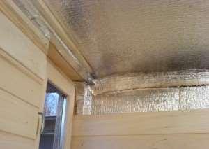 Основы утепления потолка бани своими руками