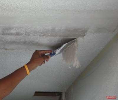 Побелка потолка своими руками
