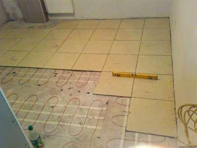Теплый пол под плитку в ванной комнате своими руками