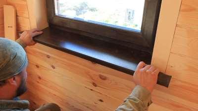 Как сделать подоконники на окна своими руками