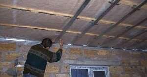 Монтаж гипсокартона на деревянный потолок