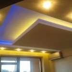 Двухуровневый потолок из гипсокартона с подсветкой. Часть 4. Монтаж светового карниза и светодиодной ленты