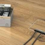 Установка электрической розетки в полу