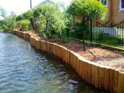 Как укрепить на даче берег ручья